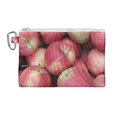 Apples 5 Canvas Cosmetic Bag (large) by trendistuff