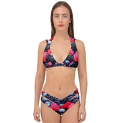 Berries 2 Double Strap Halter Bikini Set