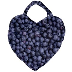 Blueberries 3 Giant Heart Shaped Tote by trendistuff