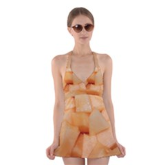 Cantaloupe Halter Dress Swimsuit  by trendistuff