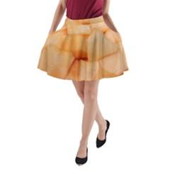 Cantaloupe A Line Pocket Skirt by trendistuff