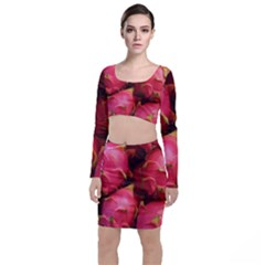 Dragonfruit Long Sleeve Crop Top & Bodycon Skirt Set
