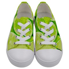 Limes 3 Kids  Low Top Canvas Sneakers