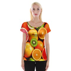 Mixed Fruit 1 Cap Sleeve Tops by trendistuff