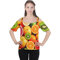 Mixed Fruit 1 Cutout Shoulder Tee by trendistuff