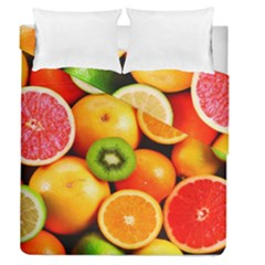 Mixed Fruit 1 Duvet Cover Double Side (queen Size) by trendistuff