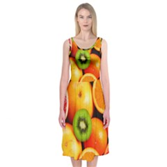 Mixed Fruit 1 Midi Sleeveless Dress by trendistuff