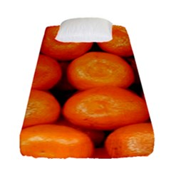 Oranges 1 Fitted Sheet (single Size) by trendistuff