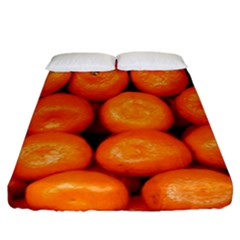 Oranges 1 Fitted Sheet (california King Size) by trendistuff