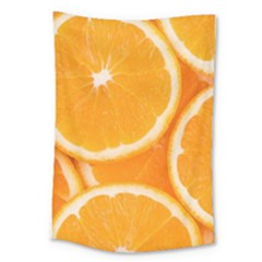 Oranges 4 Large Tapestry by trendistuff