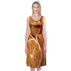 Oranges 5 Midi Sleeveless Dress by trendistuff