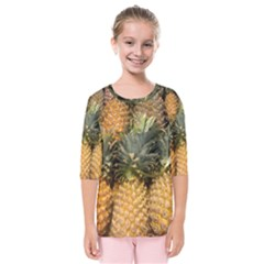 Pineapple 1 Kids  Quarter Sleeve Raglan Tee by trendistuff
