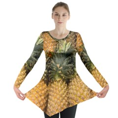 Pineapple 1 Long Sleeve Tunic  by trendistuff