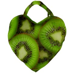Kiwi 1 Giant Heart Shaped Tote by trendistuff