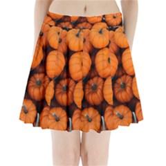 Pumpkins 2 Pleated Mini Skirt