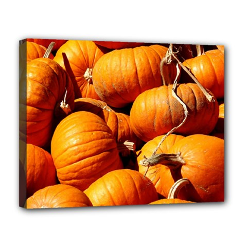 Pumpkins 3 Canvas 14  X 11  by trendistuff