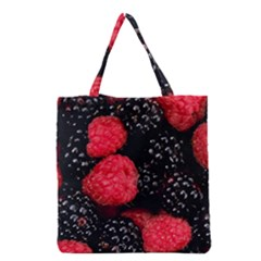 Raspberries 1 Grocery Tote Bag by trendistuff