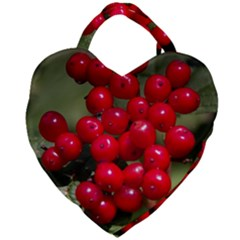 Red Berries 2 Giant Heart Shaped Tote