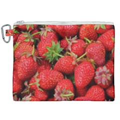 Strawberries 1 Canvas Cosmetic Bag (xxl) by trendistuff