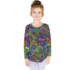 Artwork By Patrick Colorful 9 Kids  Long Sleeve Tee
