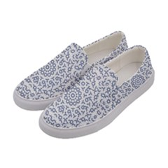 Radial Mandala Ornate Pattern Women s Canvas Slip Ons by dflcprints