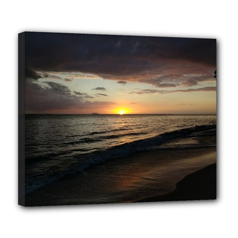Sunset On Rincon Puerto Rico Deluxe Canvas 24  X 20   by sherylchapmanphotography