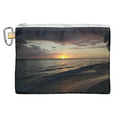 Sunset On Rincon Puerto Rico Canvas Cosmetic Bag (xl) by sherylchapmanphotography
