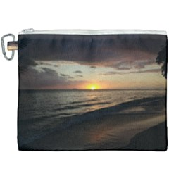 Sunset On Rincon Puerto Rico Canvas Cosmetic Bag (xxxl) by sherylchapmanphotography