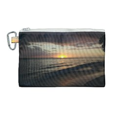 Sunset On Rincon Puerto Rico Canvas Cosmetic Bag (large) by sherylchapmanphotography