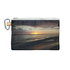 Sunset On Rincon Puerto Rico Canvas Cosmetic Bag (medium) by sherylchapmanphotography