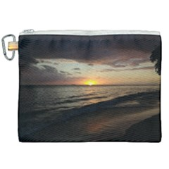 Sunset On Rincon Puerto Rico Canvas Cosmetic Bag (xxl) by sherylchapmanphotography