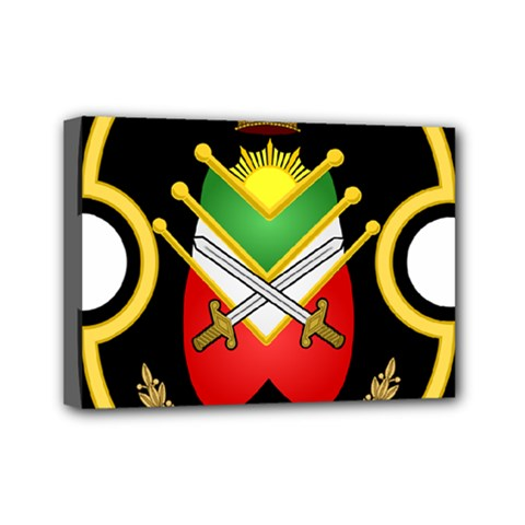 Shield Of The Imperial Iranian Ground Force Mini Canvas 7  X 5  by abbeyz71