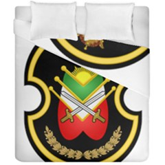 Shield Of The Imperial Iranian Ground Force Duvet Cover Double Side (california King Size) by abbeyz71