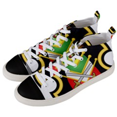 Shield Of The Imperial Iranian Ground Force Men s Mid Top Canvas Sneakers by abbeyz71