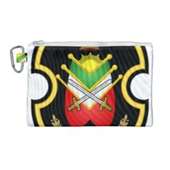 Shield Of The Imperial Iranian Ground Force Canvas Cosmetic Bag (large) by abbeyz71