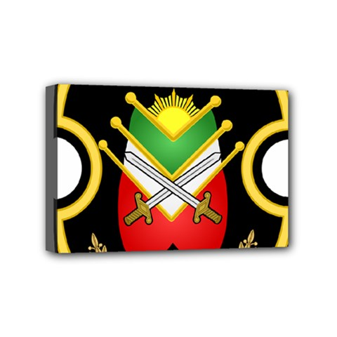 Shield Of The Imperial Iranian Ground Force Mini Canvas 6  X 4  by abbeyz71