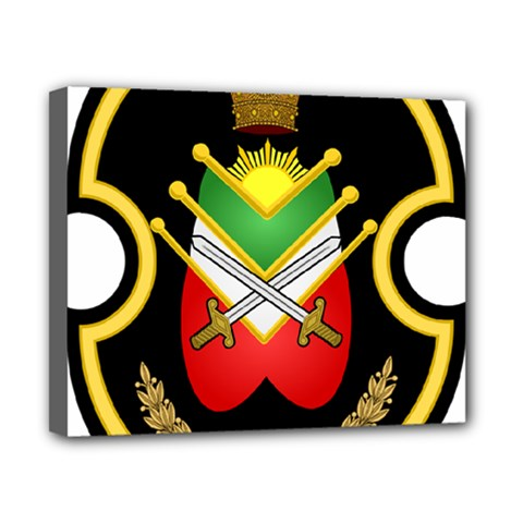 Shield Of The Imperial Iranian Ground Force Canvas 10  X 8  by abbeyz71