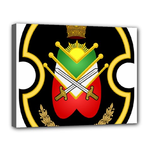 Shield Of The Imperial Iranian Ground Force Canvas 14  X 11  by abbeyz71