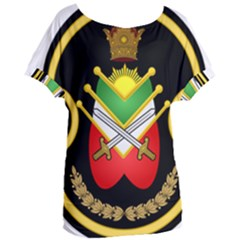 Shield Of The Imperial Iranian Ground Force Women s Oversized Tee by abbeyz71