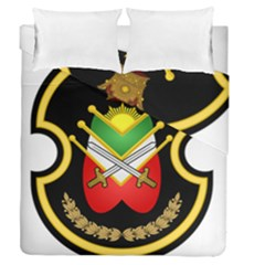 Shield Of The Imperial Iranian Ground Force Duvet Cover Double Side (queen Size) by abbeyz71