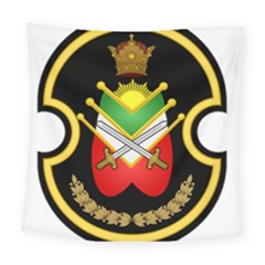 Shield Of The Imperial Iranian Ground Force Square Tapestry (large) by abbeyz71
