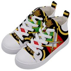 Shield Of The Imperial Iranian Ground Force Kid s Mid Top Canvas Sneakers by abbeyz71