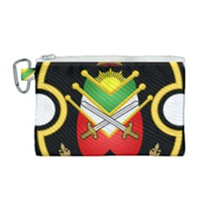 Shield Of The Imperial Iranian Ground Force Canvas Cosmetic Bag (medium) by abbeyz71