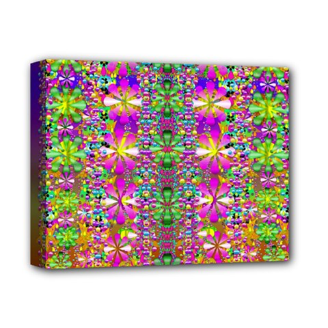 Flower Wall With Wonderful Colors And Bloom Deluxe Canvas 14  X 11  by pepitasart