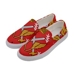 Seal Of The Imperial Iranian Army Aviation  Women s Canvas Slip Ons by abbeyz71