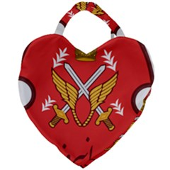 Seal Of The Imperial Iranian Army Aviation  Giant Heart Shaped Tote by abbeyz71