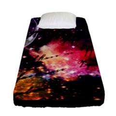 Letter From Outer Space Fitted Sheet (single Size) by augustinet