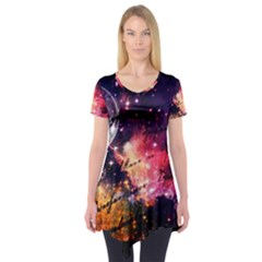 Letter From Outer Space Short Sleeve Tunic  by augustinet