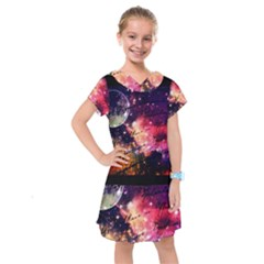 Letter From Outer Space Kids  Drop Waist Dress
