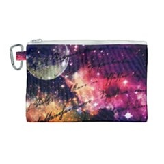 Letter From Outer Space Canvas Cosmetic Bag (large) by augustinet